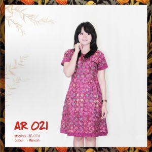 Batik Sakura AR021 - Maroon