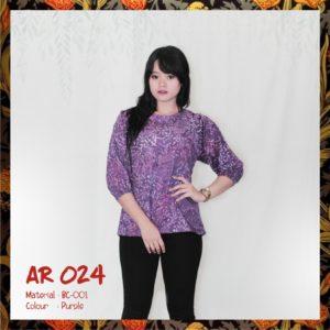 Batik Sakura AR024 - Purple