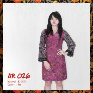 Batik Sakura Combine Goyor AR026 - Red