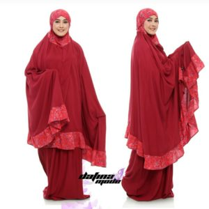 Mukena Dafina Mode COMBATBC009 - Red